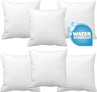 IZO Home Goods Set of 6 Premium Hypoallergenic Throw Pillow Insert Sham Square Form Polyester, 18