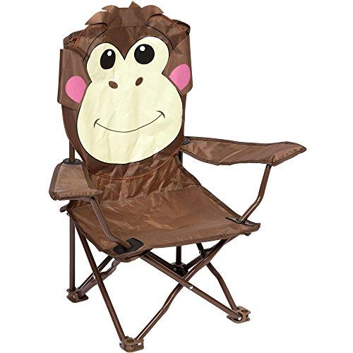 Bocamp Camping Kinderstuhl faltbar, Affe, Metallgestell, Armlehnen, rutschfest: Kinder Stuhl Camping Stuhl Campingstuhl Klappstuhl Faltstuhl Garten