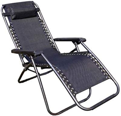 YNN Zero Gravity Chair Garden Chair Sunloungers Folding Armchairs Chair Roofed Beach Chairs Balcony Outdoor Indoor Reclining Lawn Chair with Pillow (Color : A)