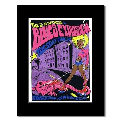 JON SPENCER BLUES EXPLOSION - Jabberjaw Los Angeles 1993 Mini Poster - 21.5x16cm