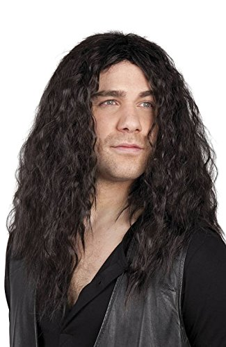 Rocker Wig Men Black Biker Ritter Knecht