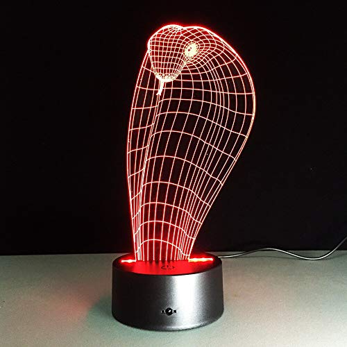neon licht deko Schlange 3D LED Lampe Cobra Nachtlicht Lampe Illusion 16 Farbänderungen 3D LED Lichter Geburtstagsgeschenk Weihnachten