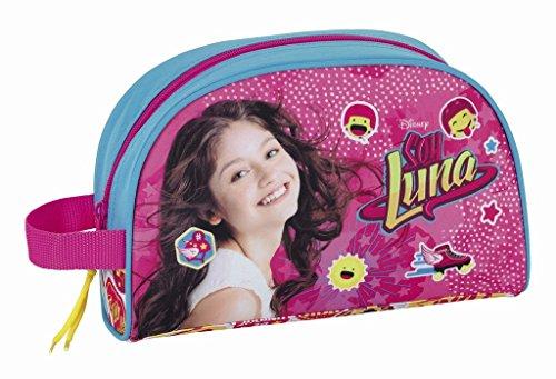 Walt Disney Soy Luna, Kulturtasche Beautycase (S332) für Mädchen, pink/blau, 28 x 18 x 10 cm