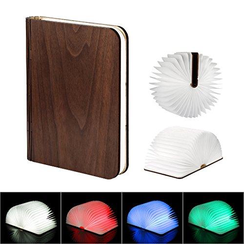 LEDGLE Lámpara de libro plegable, LED Night Light Lámpara de diseño creativo...