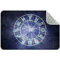エリアラグ軽量 占星術と星占いの概念 フロアマットソフトカーペットチホームリビングダイニングルームベッドルーム