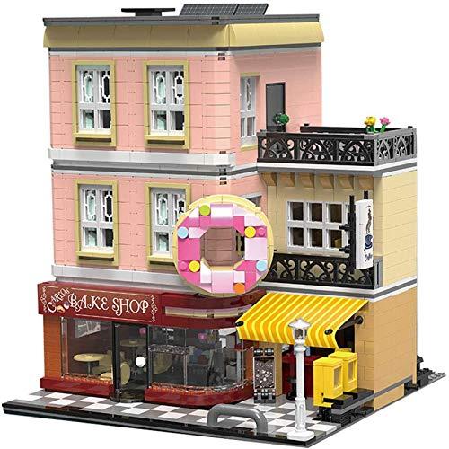 XJJY Conjunto de Edificios de la casa Modular, Arquitectura Bake Shop Construction Set, 2919 Piezas de Bloques compatibles con Lego