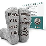 MOVINPE Coffee Socks, If You Can Read This Bring Me Coffee, Fuzzy Socks Funny Sock For Women Men...