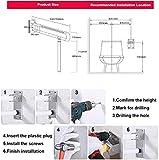 RANZIX klappbare WC & Toiletten Aufstehhilfe – Stützgriff Sicherheits Haltegriff Stützklappgriff behindertengerecht Toiletten Stütz-Haltegriff hochklappbar robust & solide verarbeitet (Gelb, 750Mm) - 5