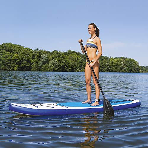 EASYmaxx Stand-Up Paddle-Board 320cm mit Zubehör Doppelhub-Pumpe + Grosse Tragetasche + Alu-Paddel...
