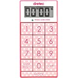 dretec(ドリテック) デジタルタイマー スリムキューブ 消音切替 光 ピンク T-520PK