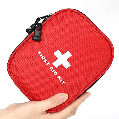 *Erste Hilfe Set 143-teilig mit medizinischen Notfall (CPR-Maske und Schere) und Überlebensanlage für Zuhause, Büro, Auto und Outdoor (Grün) (rot)*