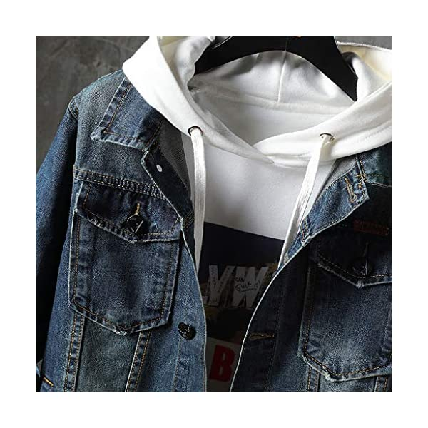 Men's Casual Lightweight Slim Fit Pockets Button Down Denim Jackets Plus Sizes 4