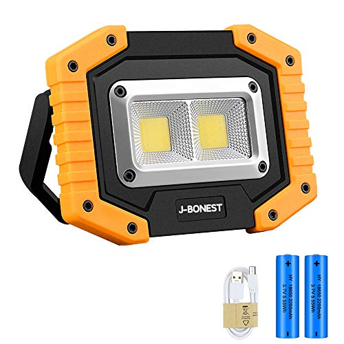 Rechargeable COB Work Light, Portable 30W 1500LM Flood Light Waterproof LED...