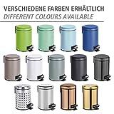 WENKO Kosmetik Treteimer Leman, 3 Liter, Badezimmer-Mülleimer, kleiner Abfalleimer mit herausnehmbaren Einsatz, aus lackiertem Stahl, 17 x 25 x 22,5 cm, Grün matt - 5