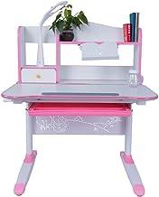 Kids' Table & Chair Set, Kids Desk and Chair Set Height Adjustable Children's Sturdy Table Student School Desks Pencil Cas...