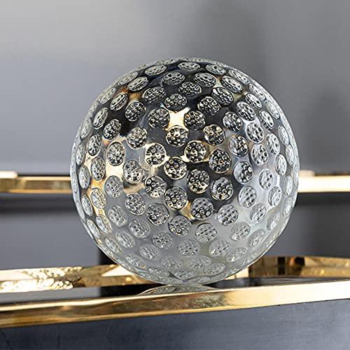 Figura de exhibición de bola de lente de golf de cristal K9 con bolsa Regalo de Navidad creativo Decoración de oficina en casa 60 80 100mm-58-60mm con bolsa