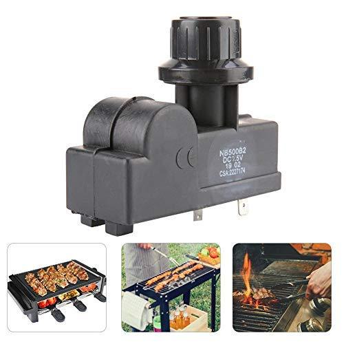 Zündgenerator mit Zündkerze,Ofenheizung Impuls Hochfrequenzzünder Impulszünder Grillfeuerzeug Automatische Zündung Druckknopf BBQ Mikroschalter Elektronischer Funkengenerator (2 outlet)