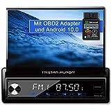 Tristan Auron BT1D7027A Android 10.0 Autoradio + OBD 2 Box I 32GB ROM I 7'' Touchscreen I GPS Navi I Bluetooth Freisprecheinrichtung I USB SD DAB Plus I 1 DIN