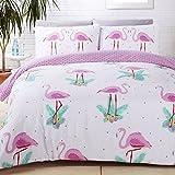 Rapport Flamingo Ropa de Cama, algodón de poliéster, Multicolor, para Cama Individual