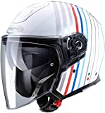 Caberg Casco FLYON BAKARI blanco/plata/BMW COLORS L
