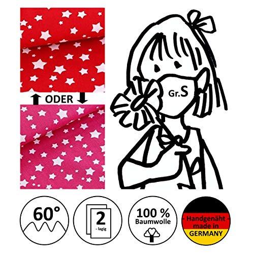 Mund- und Nasenmaske, Kinder-Maske, Alltagsmaske, Community-Maske - Für KINDER Gr. S - handgenäht in Deutschland