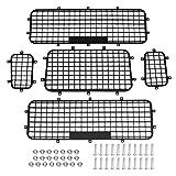 Dilwe Reti di Protezione per finestre Auto RC, 5 Pezzi Rete di Protezione in Metallo per Traxxas TRX-4 1/10 Auto RC