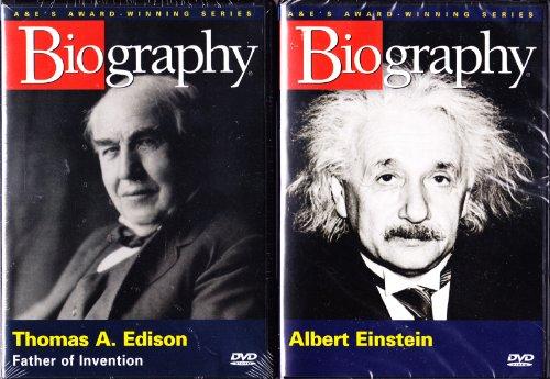 Biography Albert Einstein , Biography Thomas Edison : From the Atomic Bomb and the Theory of Relativity to the Invention of the Light Bulb and Phonograph : 2 Pack Collection