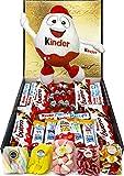 Cesta Regalo Kinder Chocolates y Chuches, Contiene Kinder Chocobons, Kinder Bueno, Kinder Maxi,...