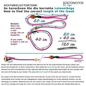 KENSONS for dogs Laisse d'exposition - Noir - Sans arrêt - 4 mm de diamètre x 160 cm de longueur - Laisse de dressage sportive pour les expositions de chiens