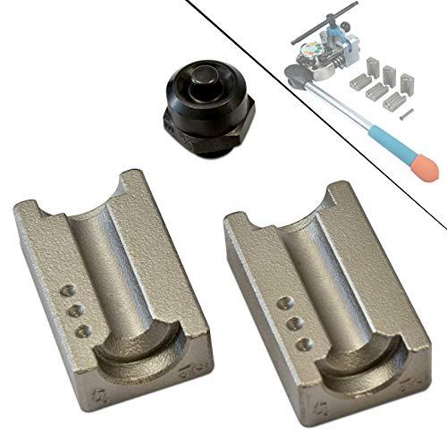 Werkzeugfee Zubehör-Set: 8mm für DIN-F + SAE-F Bördel - Spannbacken & Druckstück f. Profi Bremsleitungs-Bördelgerät Revolver-Type