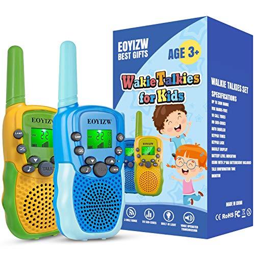 EOYIZW Walkie Talkies for Kids,22 Channels 2 Way Radio Kids walkie talkies Toys, 3 KM Long Range with Backlit LCD Flashlight walkie talkies Best Gifts Toys for Boys Girls to Outside Adventure Camping