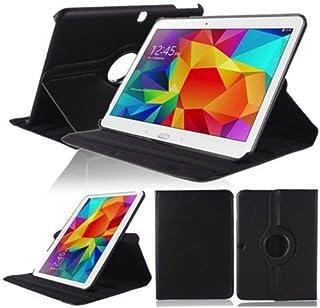 Funda Caso para Samsung GALAXY Tab 4 10.1 Pulgadas SM-T530 T531 T533 T535 Smart Cover Slim Caso Case Stand Flip Screen Protector (Negro) NUEVO