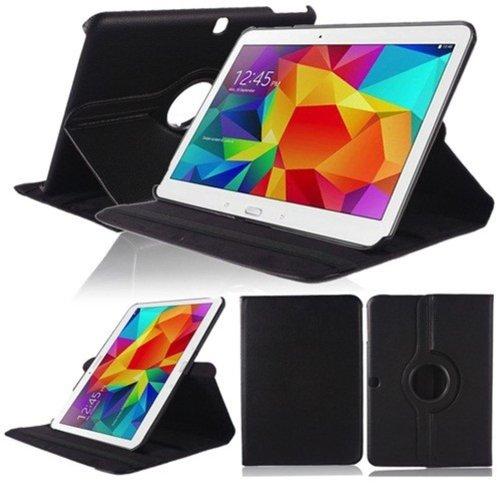 Lobwerk Hülle für Samsung Galaxy Tab 4 10.1 Zoll SM-T530 T531 T533 T535 Smart Slim Hülle Book Cover Stand Flip (Schwarz)