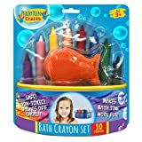 Set of 8 Washable Bathtub Crayons   Draw & Write In Tub   Non-Toxic Crayons for Toddler Bathtime