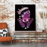 家の装飾キャンバスプリントポスター絵画現代の壁アートワークアニメヒーローアスタ写真リビングルームモジュラー50x70cm-フレームなし