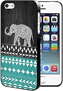 Wood Elephant Aztec Pattern iPhone 5/5S/SE Hard Case Back Cover