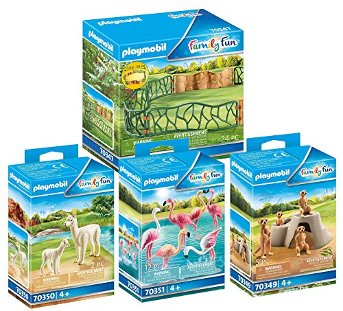 PLAYMOBIL Zoo 4-teiliges Set: 70347 70349 70350 70351