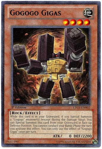 YU-GI-OH! - Gogogo Gigas (LTGY-EN002) - Lord of The Tachyon Galaxy - Unlimited Edition - Rare