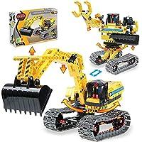 2-in-1 DIY Construction Excavator Toy STEM Building Set (342-Pieces)