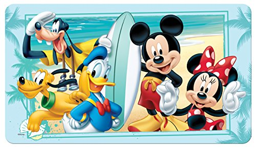 "Disney Mickey Mouse""Summer Fun"" Decorative Bath Mat, Blue"
