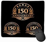 vbndfghjd 1170 rutschfeste Dicke Gummi große Mousepad 11,81 X 9,84 Zoll Vorlage Jubiläum th Logo Jahr feiert Gemälde Zeichnung