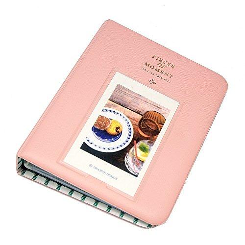 FoRapid Pieces of Moment Instax Mini Photo Album for Instax Mini 9 8 8+ 70 90 7s 25 26 50s/ Pringo 231/ Fujifilm Instax SP-1/ Polaroid PIC-300P/ Z2300 Snap Touch & Name Card(64 +1 Photos, Pink)
