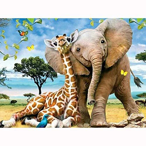 3D Diamond Mosaic Home Decor Diamond Embroidery Diamond Painting Cross Stitch Animal Picture Elephant & Giraffe