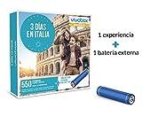VIVABOX Caja Regalo -3 DÍAS EN Italia- 550 estancias. Incluye: una batería Externa para Smartphone