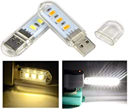 Heldere mini 3 LED / 8 LED USB licht USB zaklamp USB nachtleeslamp zaklamp voor computer notebook PC Wit 3 leds.