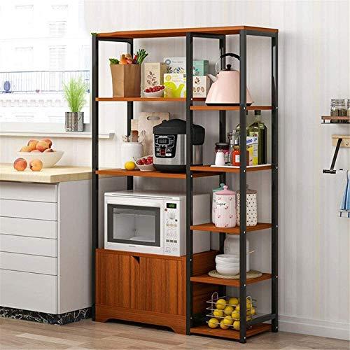 Regal Für Küche, Küche Aufbewahrungswagen Küche Bäcker Rack Vintage Aufbewahrungsregal Mikrowellenständer mit...
