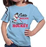 Hariz - Camiseta para niña, diseño de hockey azul cielo 164 cm(14-15 År)