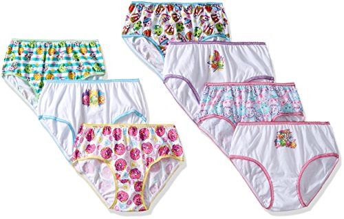 Girls Shopkins Bikini Briefs 7pk - Pink/Blue/Purple 4