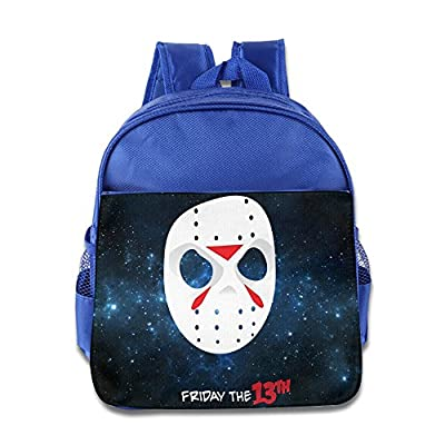 VIERNES la 13th Jason Voorhees máscara azul eléctrico de la escuela Niños Mochila bolsa