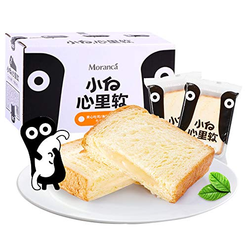 小白心里软海盐吐司面包夹心面包小面包早餐蛋糕零食三明治饼干糕点礼盒 整箱520g